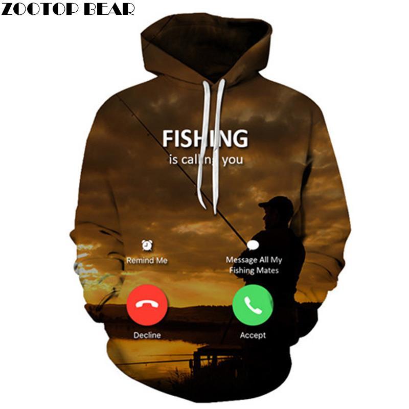 Men's Clothing Fish Perint Sweatshirt For Bass Fisherman Fish Gift Winter Men Thick Zipper Hoodie Hip Hop Jacket Tops Harajuku Streetwear