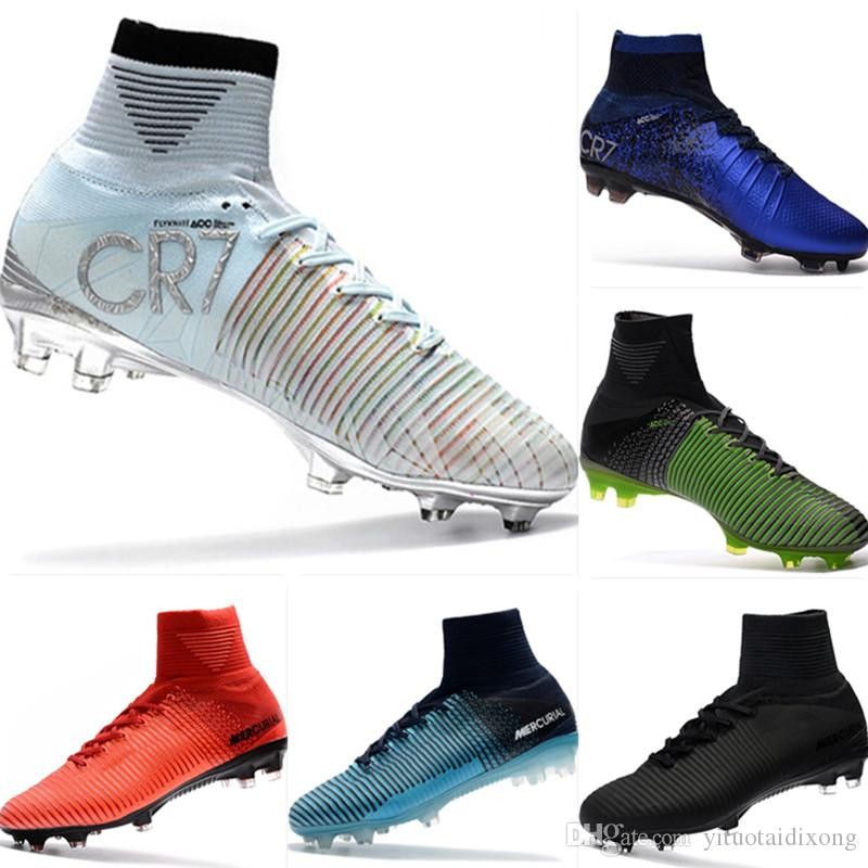 1c171c011a5 With Box 2019 Mercurial CR7 Superfly FG Kids Football Boots Magista Obra 2  Youth Soccer Cleats Cristiano Ronaldo 35 45 Best Rated Running Shoes For  Kids ...