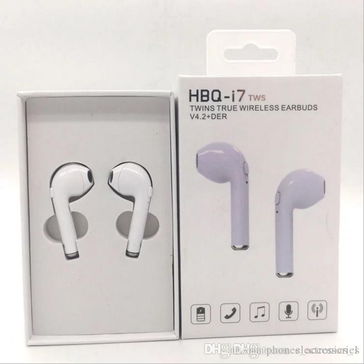NEW HBQ i7 TWS Twins Wireless Earbuds Mini Bluetooth V4.1 Stereo Headset earphone For all smart mobile phone