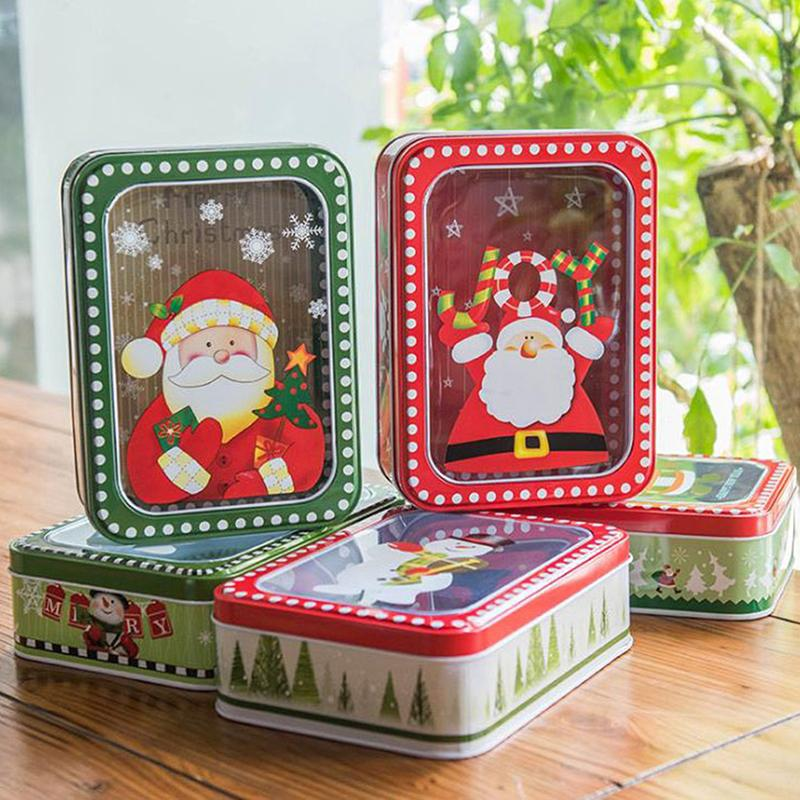 2 sizes Tin Box Wedding Party Candy Baking Cookies Biscuit Case storage tin box Christmas Gift