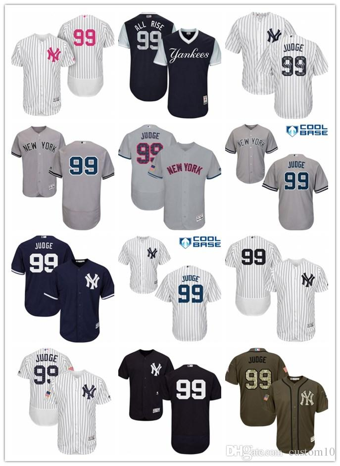 e927ac271f9 Men s Women s Youth New York 99 Aaron Judge All Rise Custom Baseball  Jerseys Yankees Online with  27.22 Piece on Custom10 s Store