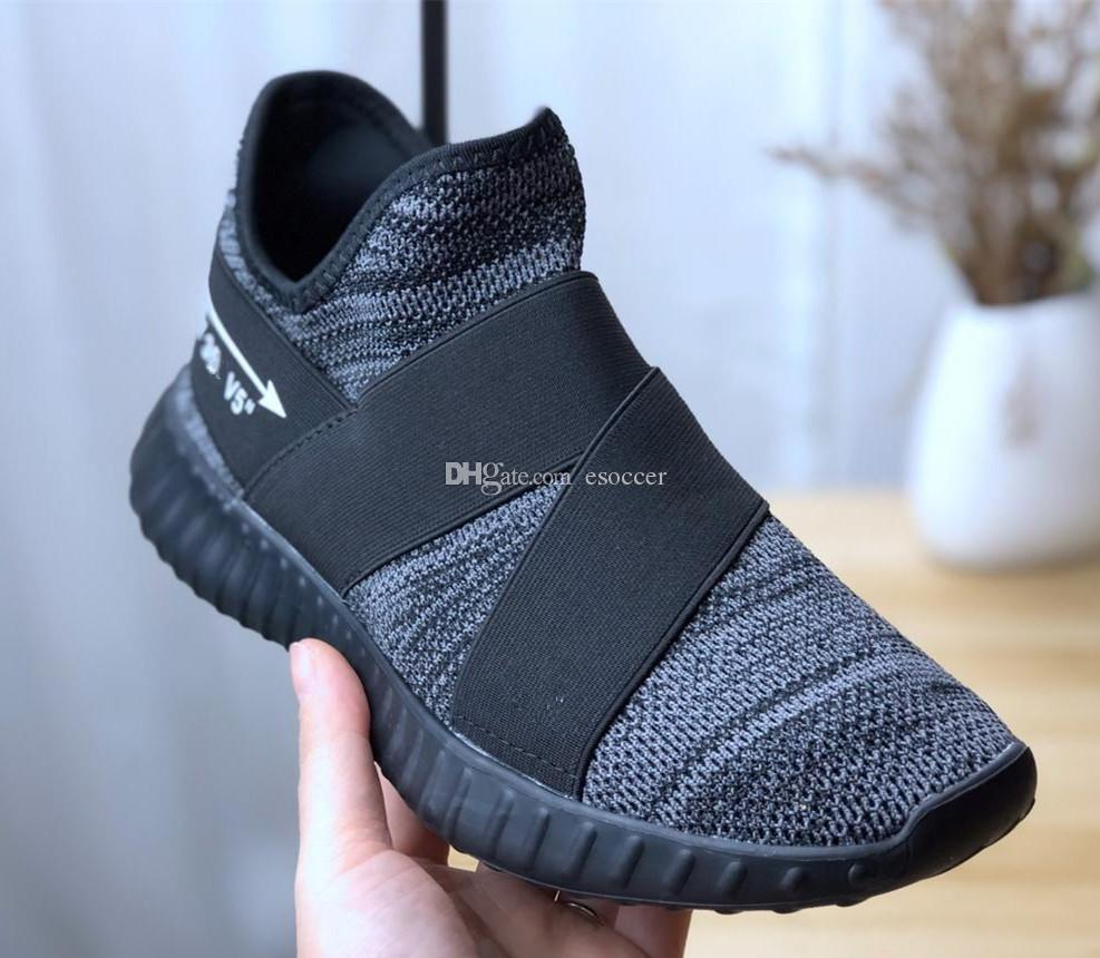 free shipping 6ea70 6e5d4 2019 New Y3 tubular Black/grey Knitting Mesh Running Shoes for Men Women  Kanye West V5 5.0 Y-3 kanye Sports Sneakers Size 36-45