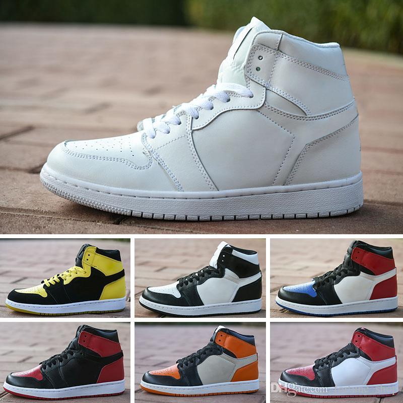 80ae06b81fb Compre Nike Air Jordan 1 4 6 11 12 13 Novo 0ff 1 Parra Tênis De Basquete  Mens Branco MutiColor Esporte Tênis Mulheres Running Shoes Top Quality De  ...