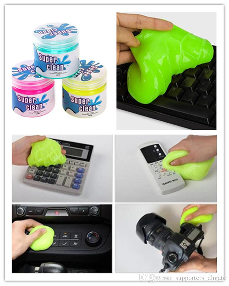 Hete-supply Keyboard Cleaning Gel Detail Removal Detailing Putty Cleaner Multi-Function Cleaning Gel for CarVents,Keyboards,CameraCameras Car Interior Cleaning Mud
