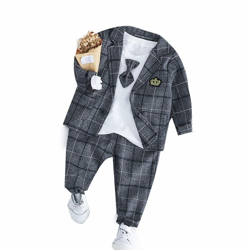 7ef537fd7d79 2019 2019 New Spring Baby Boys Clothing Male Children Suits Kid ...