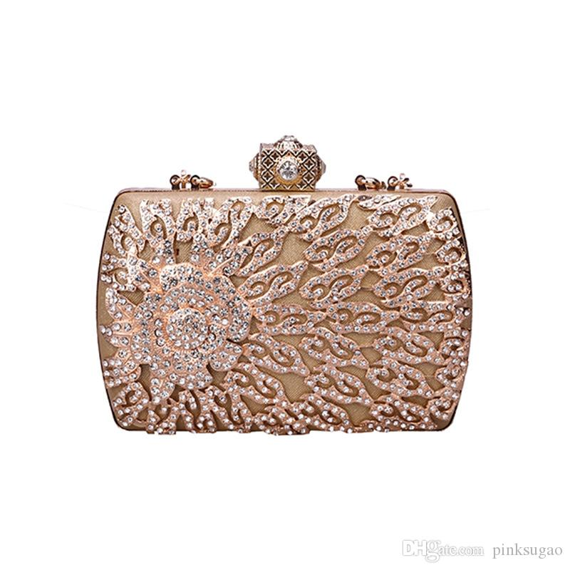 4c246695c2fb Pink Sugao Crystal Luxury Evening Bag Bling Party Purse Diamond Boutique  Gold Silver Women Wedding Day Clutch Bag Women Crossbody Handbag Wholesale  Purses ...