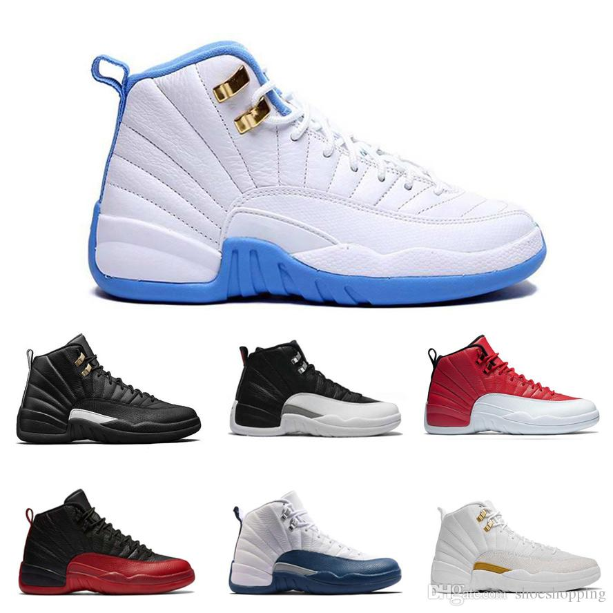 075e9142b3a9 Cheap 12s 12 Basketball Shoes Women OVO White Gym Red Dark Grey Taxi ...