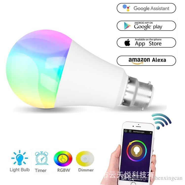 Sans D'énergie Gradation Intelligente Vocale Économie Fil Alexa Rgb Led Maison De À Wifi Commande Ampoule ywOmn0vN8