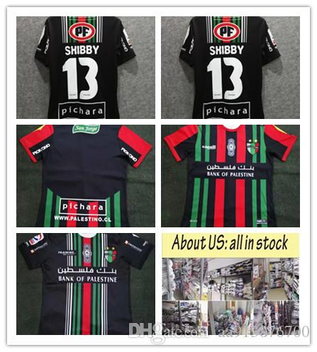 cheaper 87a96 ec941 AAA thai quality 2019 Palestine soccer Jersey 19 20 survetement football  Palestinian soccer jersey home black Football Shirts