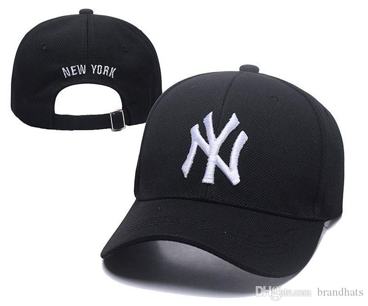Designer de moda chapéu NY LOGOTIPO Snapback Boné de Beisebol Novo Bonés de  beisebol Recreativo chapéu Dos Homens mulheres Bonés de Beisebol Da Marca  ... 520dc5bb932