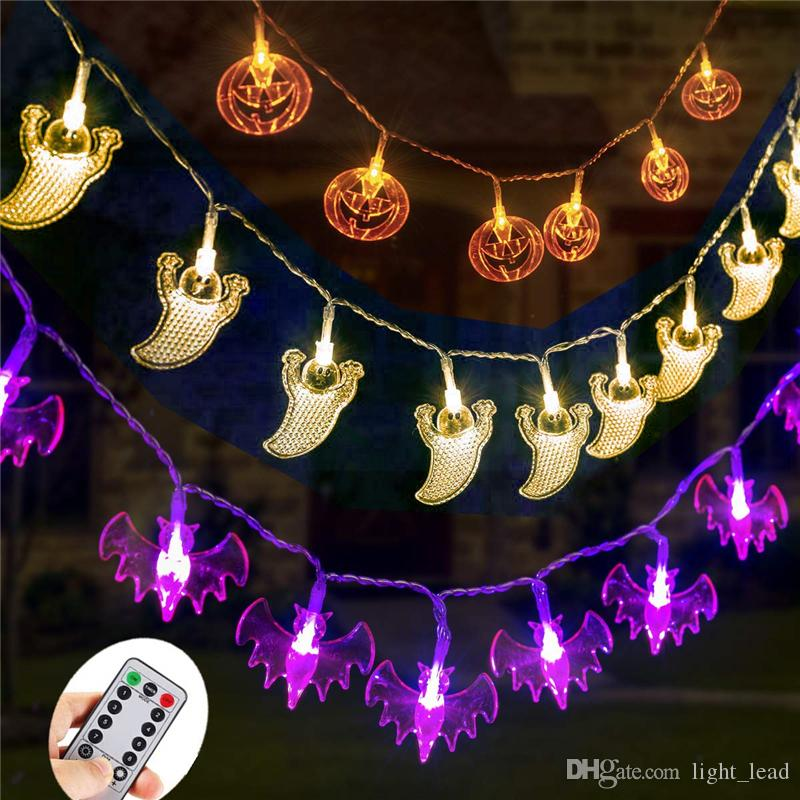 Halloween LED String Lights Battery Operated Remote Control Pumpkins Bats Ghosts 30 LEDs Fairy Lights for Outdoor Indoor Decorations