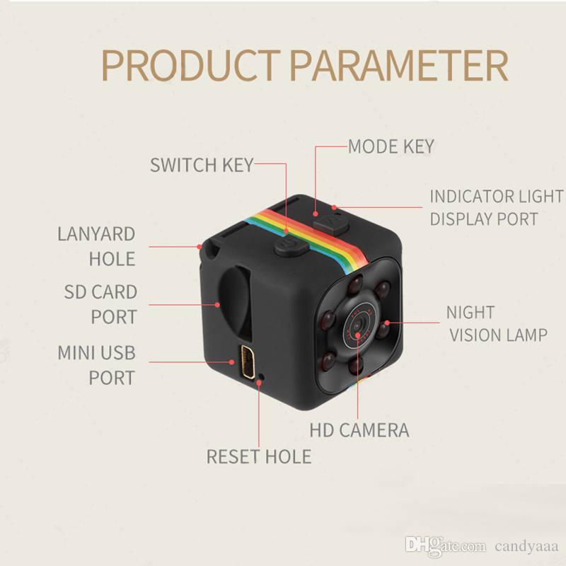 7d4d8dff5 Compre SQ11 Mini Câmera HD 1080 P Sensor De Visão Noturna Filmadora  Movimento DVR Micro Câmera Esporte DV Vídeo Pequena Câmera Cam SQ 11 De  Candyaaa