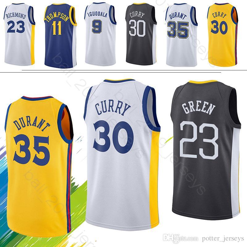 size 40 4d35c c40e7 Kevin 35 Durant jersey Stephen Warriors Curry Draymond 23 Green jerseys  Andre 9 lguodala Maillots de basketball