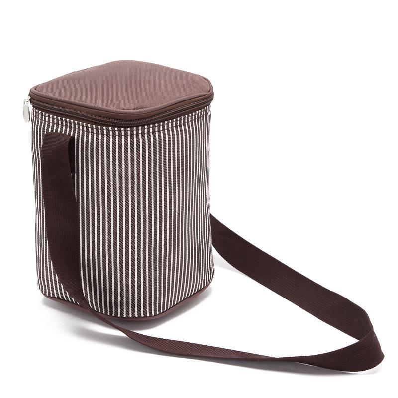 4.5L Leak Proof Lunch Bag Thermal Picnic Box Ice Pack Barriel Shape  Insulated Cooler Meal Drinks Cans Holder Cool Shoulder Bag Satchel Handbags  Handbag ... 0f26aee0eb31