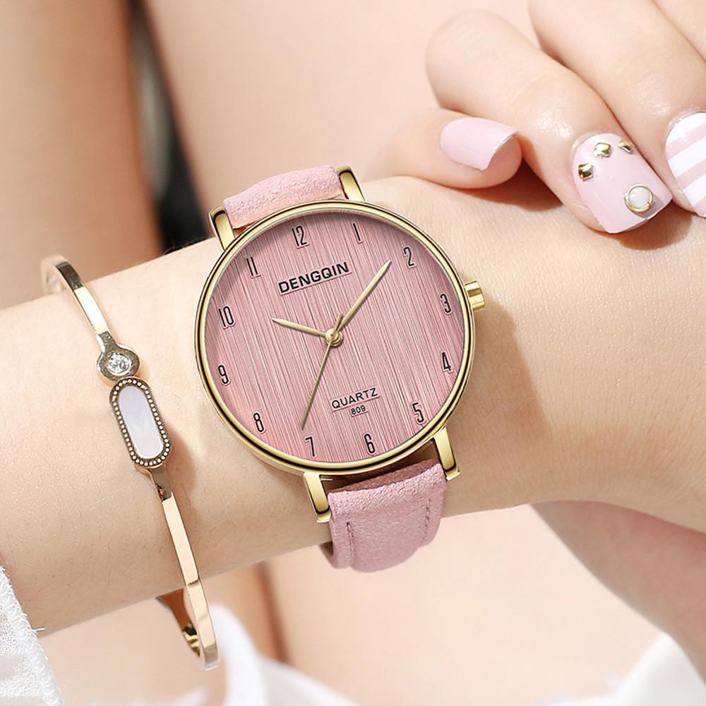 Uhr Frauen Quarz Casual Frauen Uhren Armband Uhr Damen Quarz Frau Uhr 2018 Leder Mode Sport Wacth Zegarek Damski Uhren