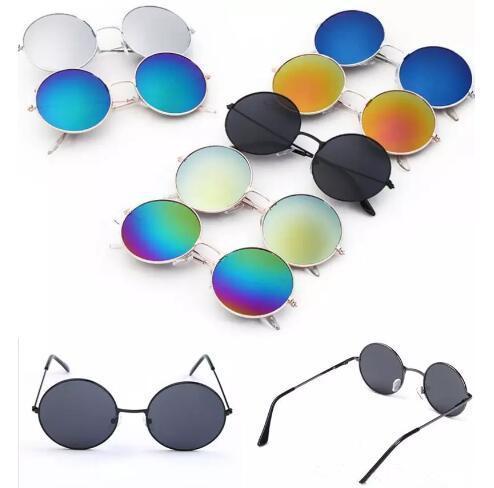 daa215d248 Compre Gafas De Sol Retro Para Niños Marco Redondo De Moda Gafas De Sol  Niños Estilo Vintage Lentes Coloridas Gafas De Sol Para Exteriores Chicos  Grandes ...