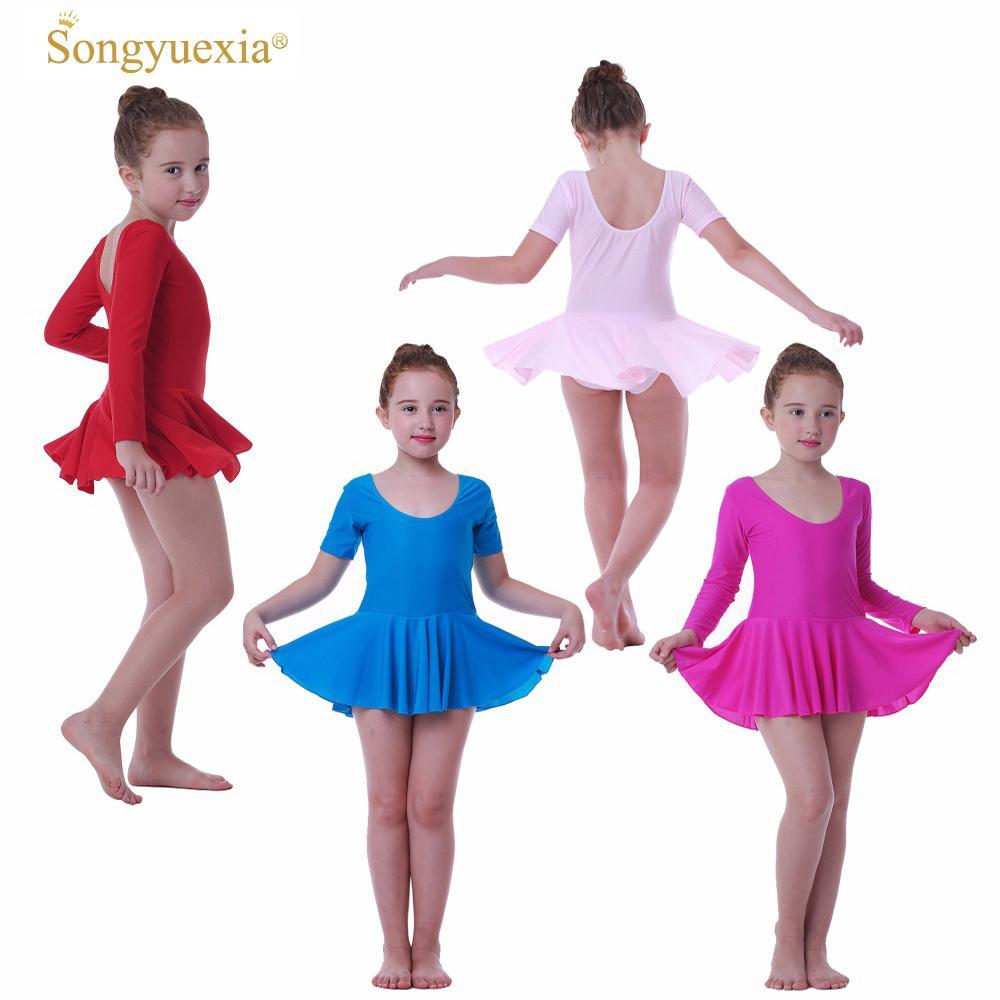 b85a96d69690 2017 Girls  Ballet Dance Dress Children s Gymnastics Leotard Skirt ...