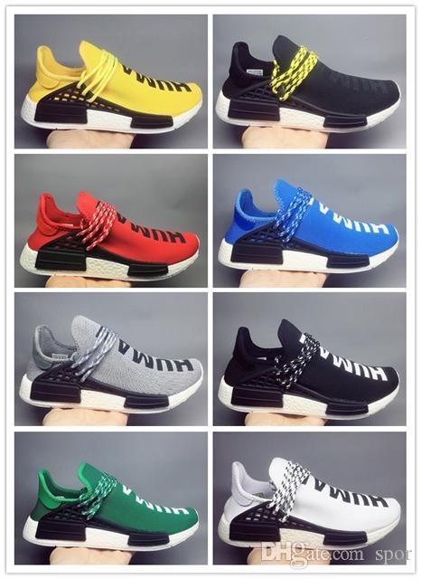 0149301f3 Cheap Human Race Running Shoes Men Women Pharrell Williams Runner ...