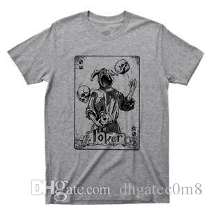 Joker T Shirt Swap Playing Card Jester Ace Spade King Queen Hearts Tattoo Tee