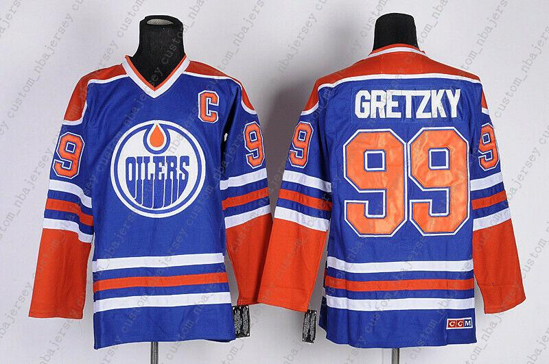 detailed look 2e5fe 9684b Cheap Custom Edmonton Oilers Vintage Hockey Jerseys 99 Wayne Gretzky CCM  Jersey Personality stitching custom any name number XS-5XL