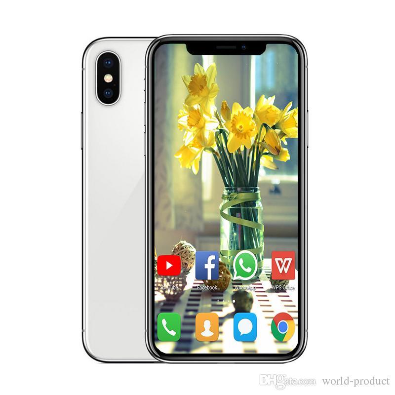 5 8inch Goophone XS smartphone ram 1G rom 4G 8G 16G face ID Quad Core  MTK6580 Wireless Charging GSM WCDMA phone