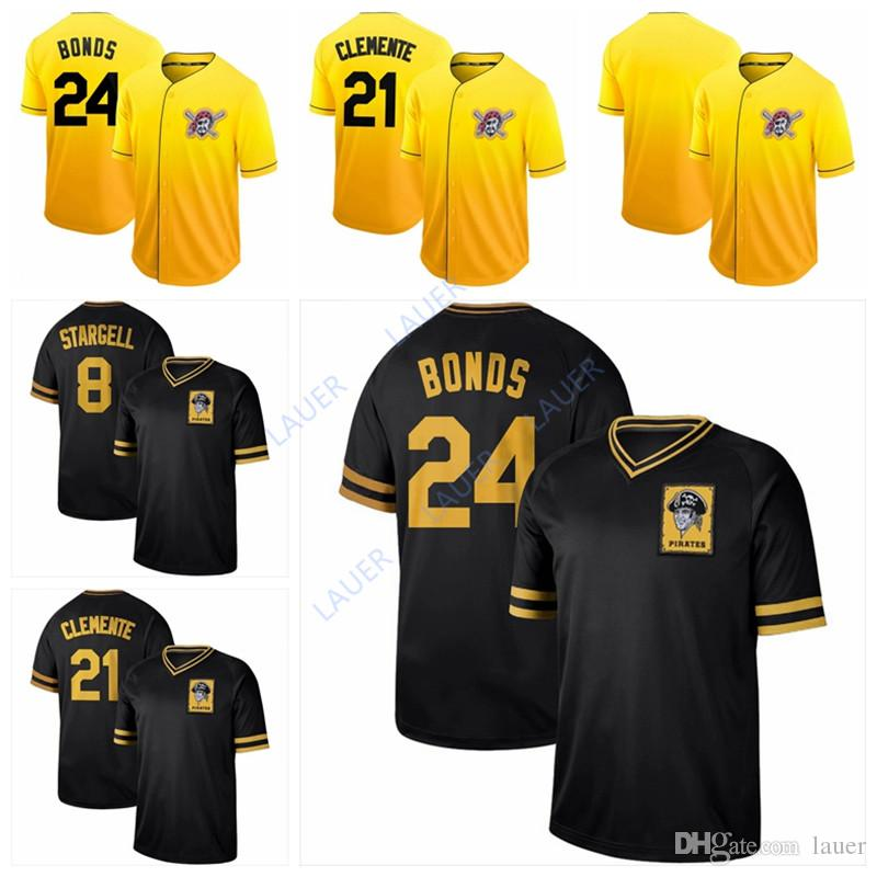 size 40 ac301 c5e0a 2019 Pittsburgh Baseball Pirates Jersey 24 Chris Archer 21 Roberto Clemente  8 Willie Stargell Cooperstown Collection Legend Fade Jersey