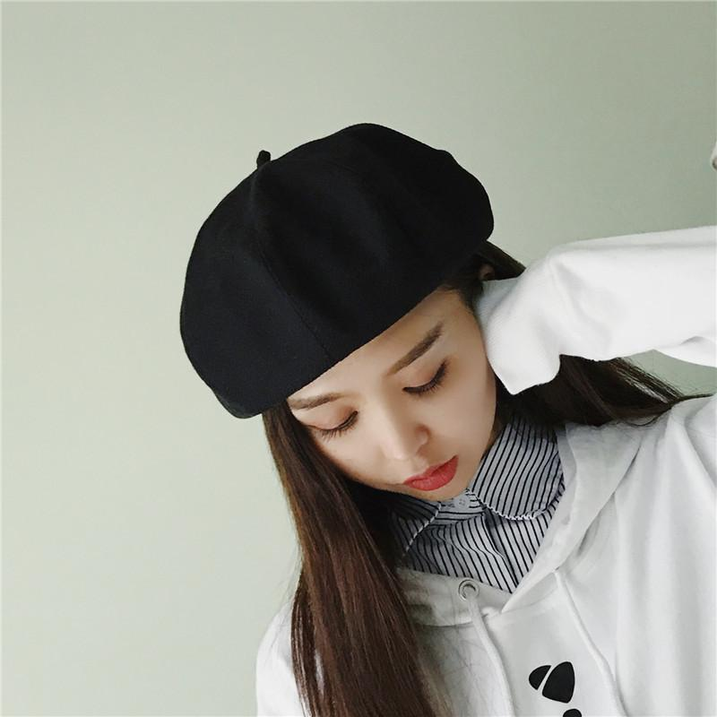 7eb92ce9f1554 2019 And Winter New Pattern Wool Beret Korean Winter Keep Warm Bud Painter  Hat Thickening Solid Color Imitate Cashmere Hat From Ericgordon