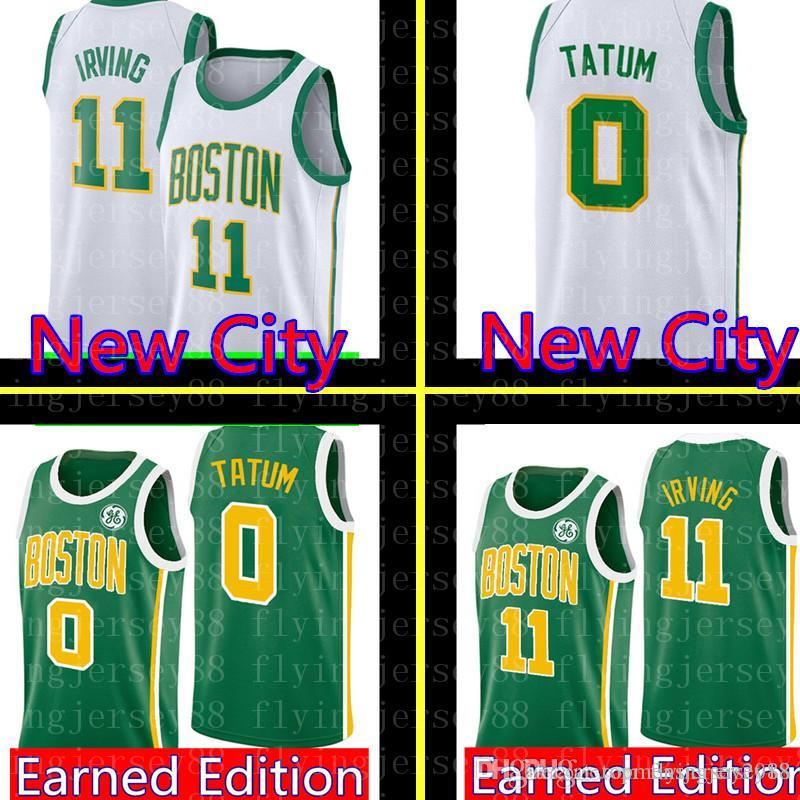 meet 526bb 43ae6 Green 11 Kyrie Mens Irving Jayson 0 Tatum Jersey White City Boston Celtic  Basketball Jerseys Jaylen 7 Brown Jayson 0 Tatum Larry 33 Bird