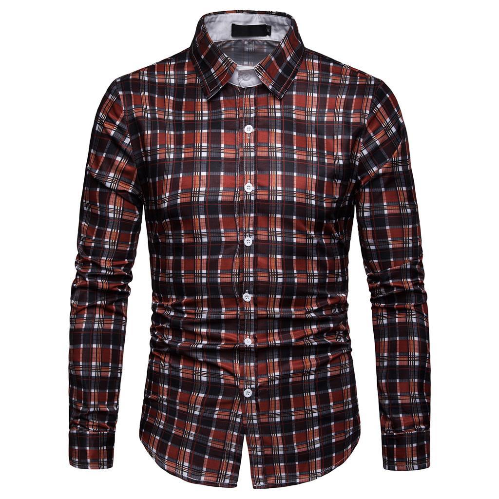 Bodys & Einteiler Marke 2018 Mode Männlichen Shirt Lange Ärmel Oberteile Hit Farbe Tasten Herren Hemden Nehmen Männer Hemd Xxxl