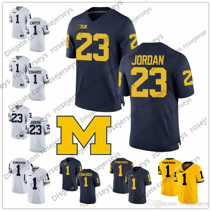 best sneakers af03b d992f Michigan Wolverines #1 Anthony Carter Braylon Edwards Devin Funchess 7 Chad  Henne 17 Tyrone Wheatley 23 Michael White Blue Yellow Jersey 4XL