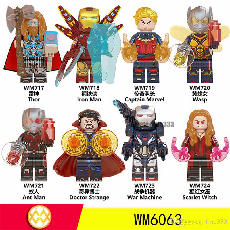 Avengers 4 Building Blocks Figures Toys Newest Thor Doctor Strange War Machine Scarlet Witch Wasp Iron man Captain Marvel Ant man