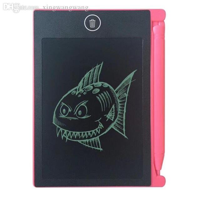 TOP أفضل 4.4 بوصة LCD صغيرة الكتابة وحي الكتابة على الجدران الرسم اللوحي لمشروع الاطفال الرقمية. بوصة وسادات مع حقيبة OPP