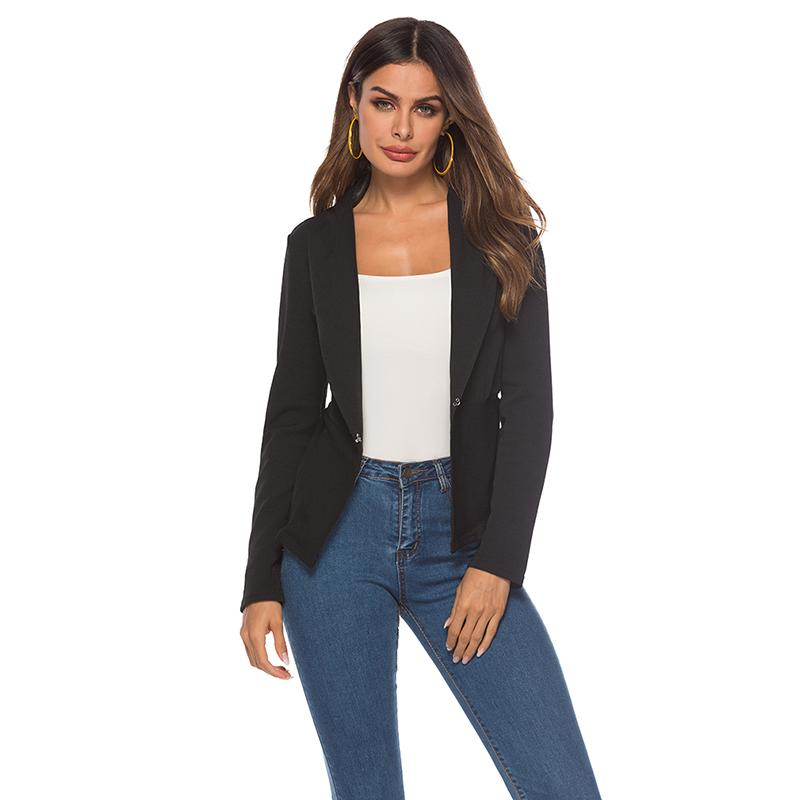 4947f308015 2019 Spring Autumn Slim Fit Women Formal Jackets Office Work Open Front  Notched Ladies Blazer Coat From Radishu