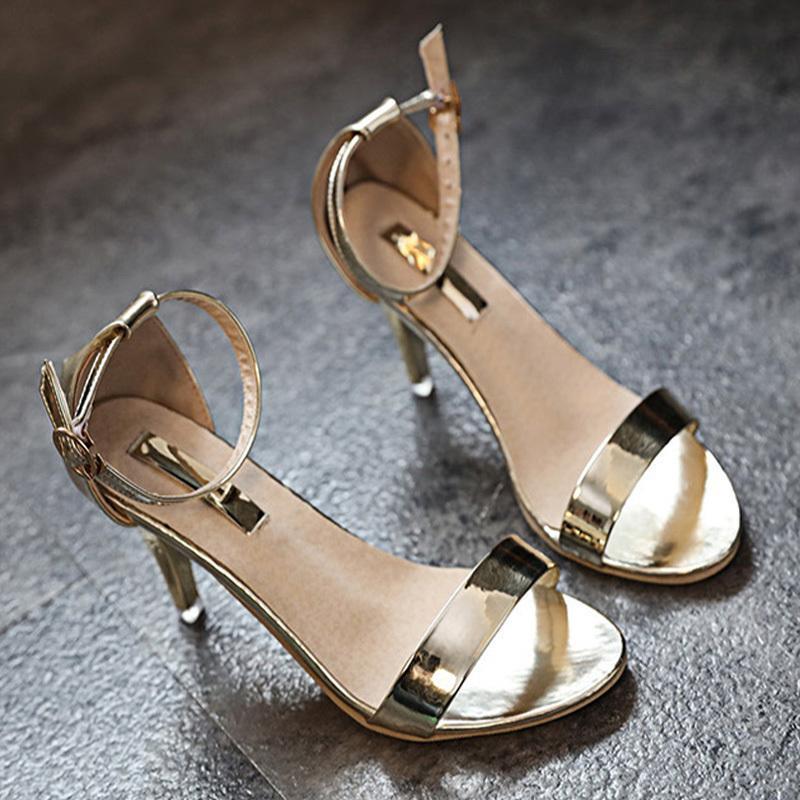 3d1e0dc98aa8 Designer Dress Shoes Fashion Women Sandals High Heels Women Summer Thin Heels  Ladies Dress Wedding Open Toe Bling Gold Silver Pumps Clogs For Women Cheap  ...