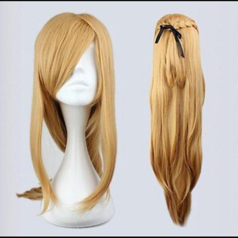 WIG shipping Sword Art Online Asuna Yuuki intrecciato marrone Anime Cosplay Parrucca