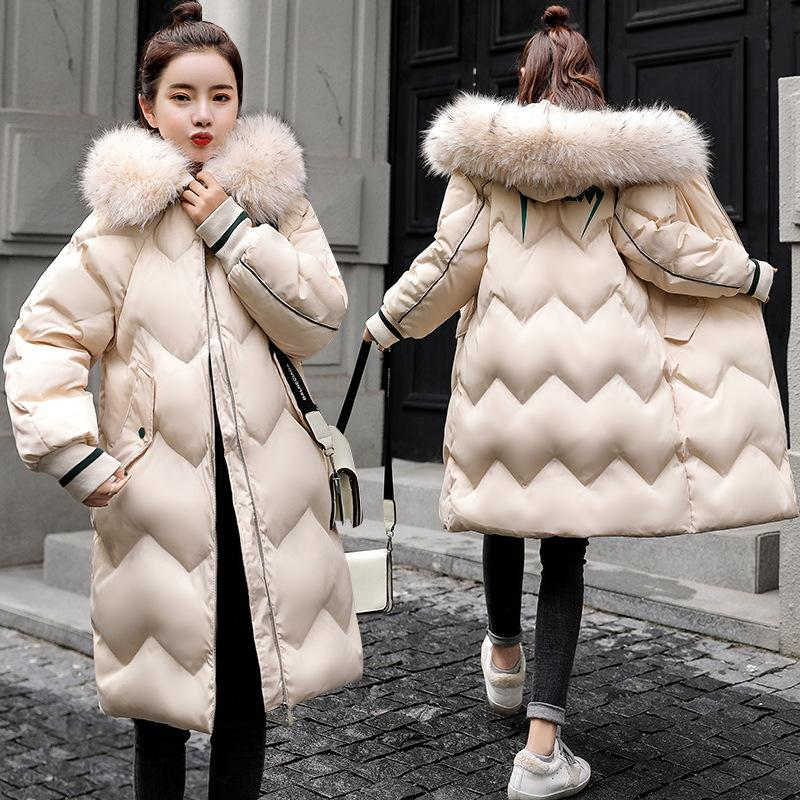 66b659fb0 Winter Jacket Women Parka Europe 2018 Fashion Simple Leisure Warmth And  Thick Coat Big Fur Collar Womens Down Jackets