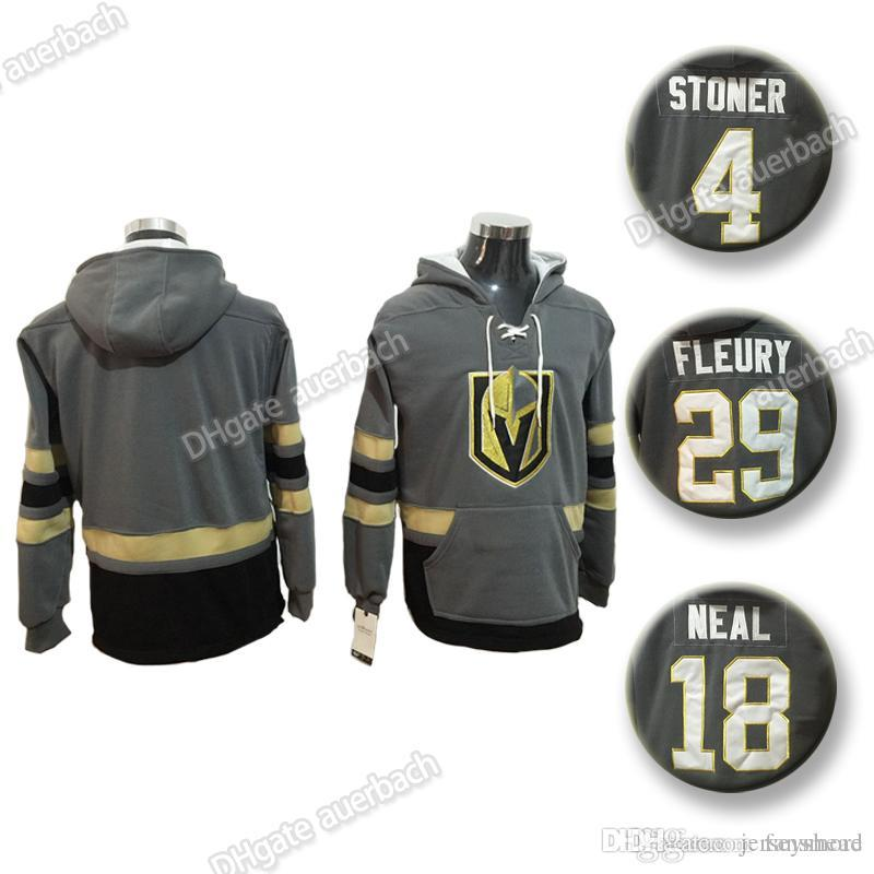 sports shoes d232f 0ee94 Vegas Golden Knights 29 Marc-Andre Fleury Jersey 18 James Neal Hat Hockey  Hoodie Hooded Sweatshirt wholesale