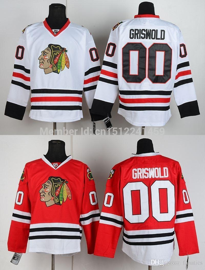 pick up dbdb8 ca82c Free Shipping Authentic Chicago Blackhawks Jerseys ##00 Clark Griswold  Jersey Cheap Ice Hockey Jerseys China