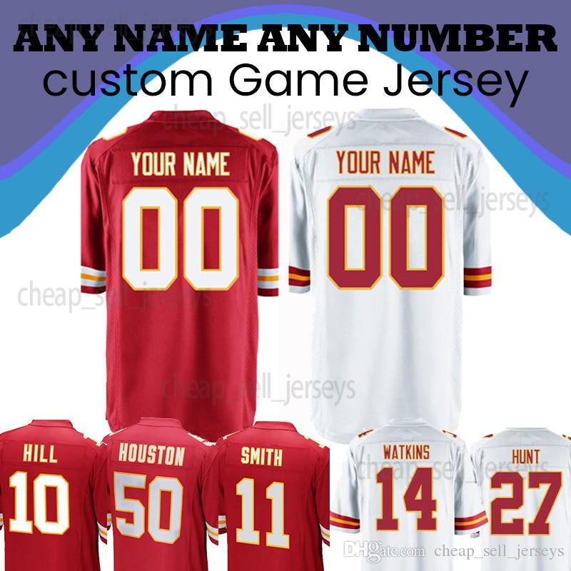 cheap for discount 6375a 0bfda Customized jersey 15 Patrick Mahomes 10 Tyreek Hill Kareem 27 Hunt Kansas  Jersey Chiefs 58 Derrick Thomas 50 Houston