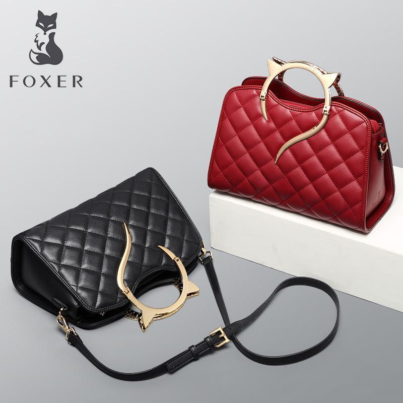 4166851c14e5 Foxer Brand Women s Leather Handbag&crossbody Bag Fashion Female Totes  Shoulder Bag High Quality Handbags Pop Trend Qulited