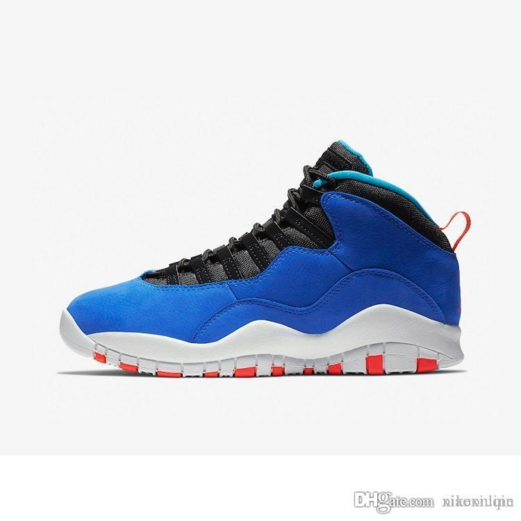 adf95672b6b7 2019 Cheap Mens Retro 10s Basketball Shoes Aj10 Racer Blue Black White Ovo  Gold Cool Grey Red Youth Kids Jumpman X 10 Sneakers Boots With Box From ...