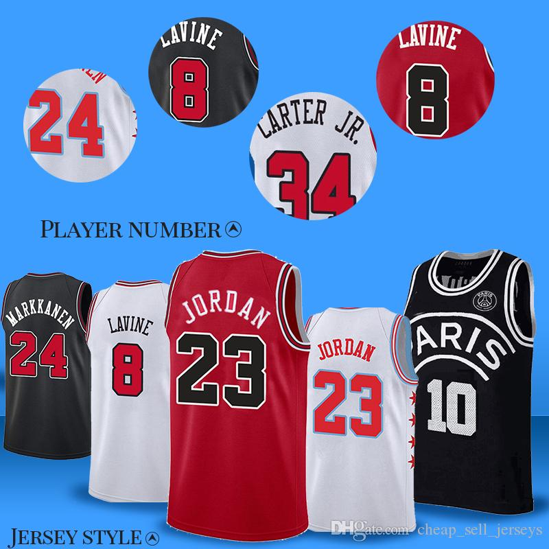 buy online bf373 2878b 23 MJ Jersey Bulls Jerseys 24 Markkanen 8 LaVine basketball Jersey men  2019-2018new Embroidery Logos Basketball 100% Stitched Jersey