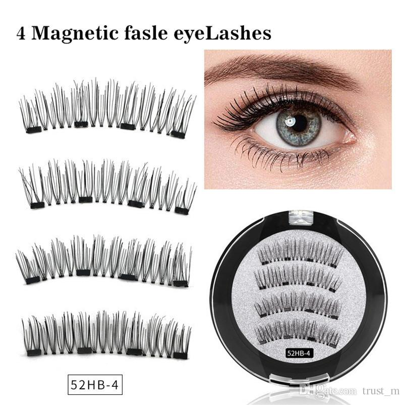 7Style Four magnetic magnet false eyelashes free glue natural 3D eyelashes  magnetic eyelash factory direct sales