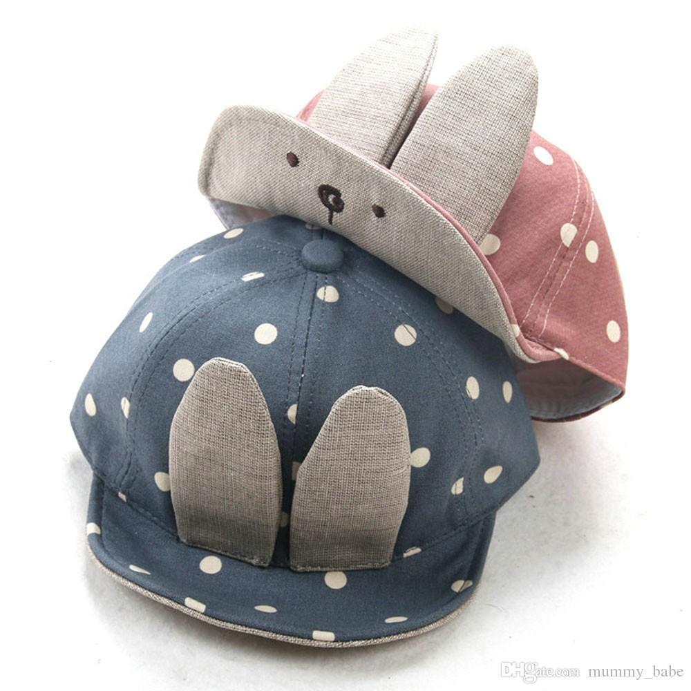 8d26d679a03 2019 3 36M Visor Baseball Cap Baby Hat For Boys Girls Rabbit Long Ear  Peaked Hats Children Snapback Spring Summer Autumn Newborn BTTF From  Mummy babe