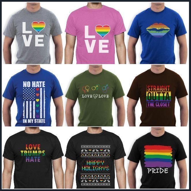 T-shirts Men's Clothing Gay Pride Lgbt Pride Rainbow Flag T-shirt Hot 2018 Summer Mens T Shirt Fashion Short Sleeve Cotton T Shirts Man Clothing