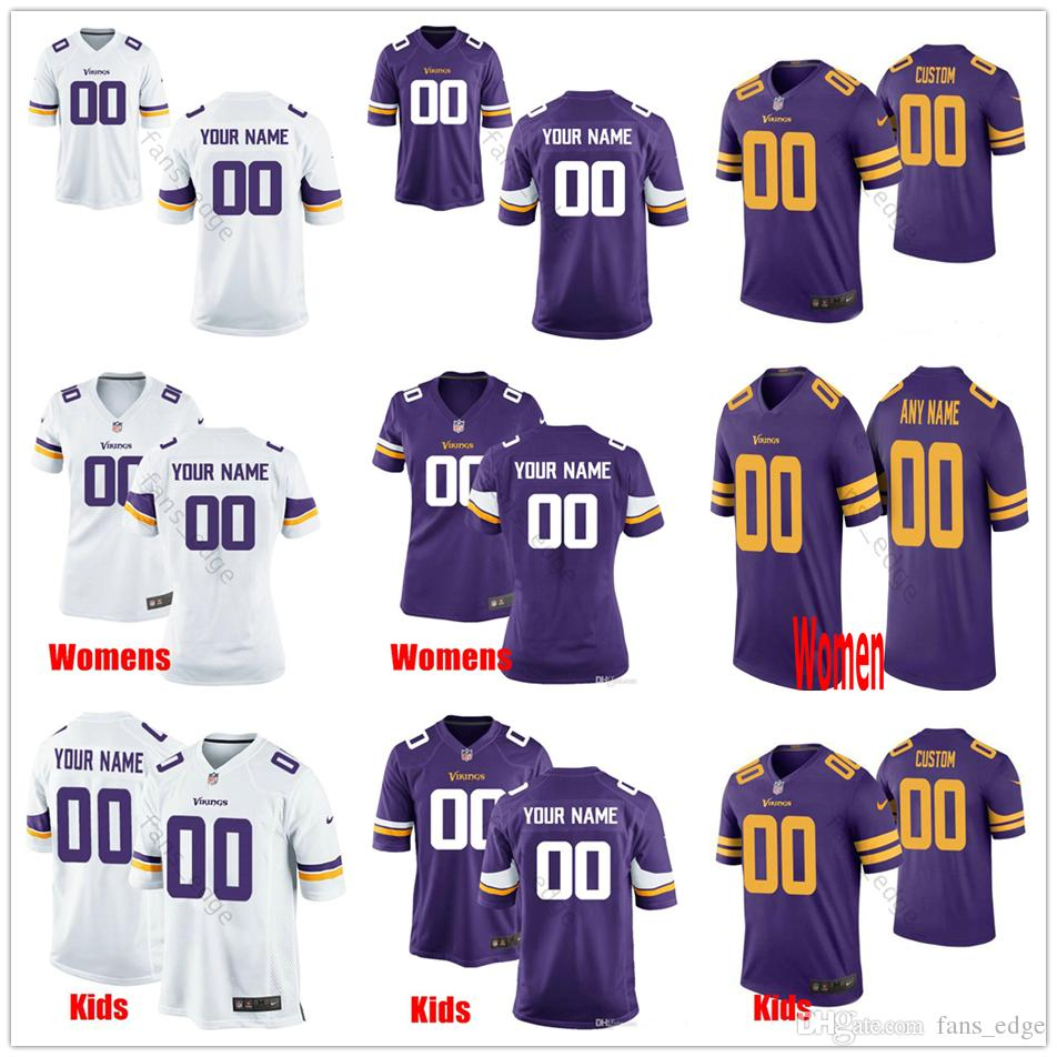 4b23adb6 Custom New Minnesota #8 Kirk Cousins 97 Everson Griffen 19 Thielen 55  Anthony Barr 82 Kyle Rudolph Men Women Youth Vikings Stitched Jerseys