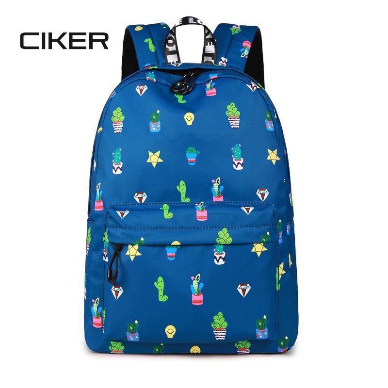CIKER 14 15.6 Inch Laptop Backpack Women Waterproof Cute Cactus Printing  Book Bag Female School Bagpack For Teens Girls Mochilas Laptop Backpack  Backpacks ... 7dbd0ef8e7