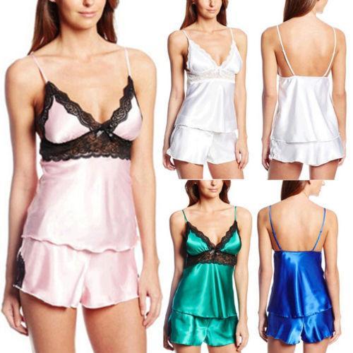 3dea7d39db4 2019 Women Solid Sexy Lingerie Lace Sleeveless V Neck Nightwear Underwear G  String Babydoll Sleepwear Bath Robe Set From Rosaling