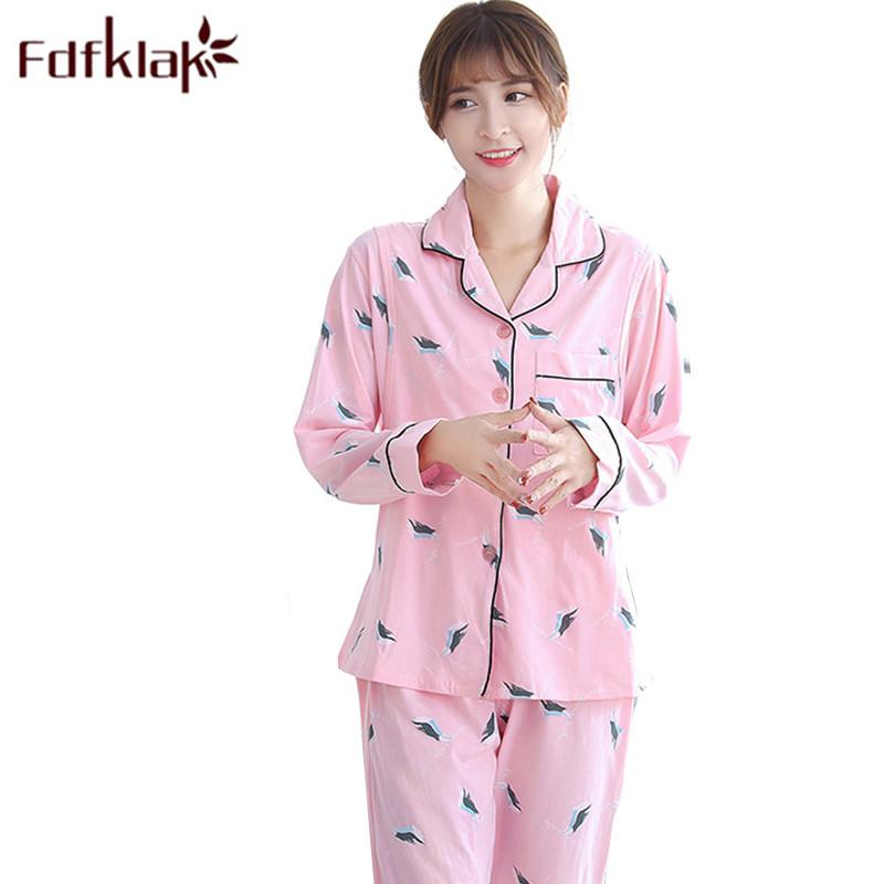 5386ff180edc1 2019 Spring Autumn Nursing Pajamas Maternity Sleepwear Pregnant Pajama  Cotton Long Sleeve Print Breast Feeding Clothes M XXL Fdfklak From  Friendhi, ...