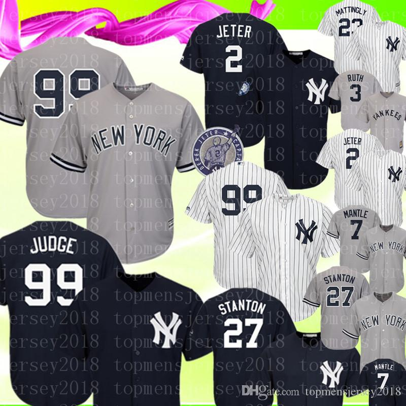57086e8ce372a Compre New York Mens Yankees Jersey 99 Aaron Juez 2 27 Giancarlo ...
